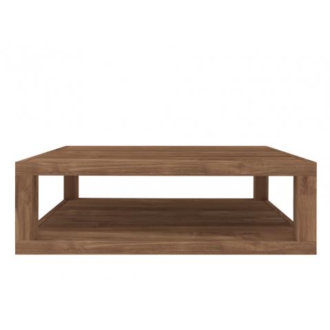 Table basse carrée DUPLEX en teck d'Ethnicraft-110x110