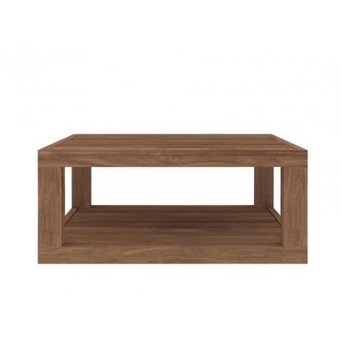 Table basse carrée DUPLEX en teck d'Ethnicraft-80x80