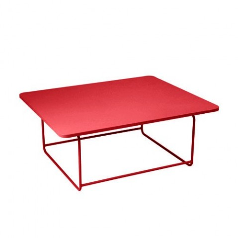 Table basse ELLIPSE de Fermob, Coquelicot