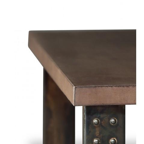Table basse en béton chocolat atelier
