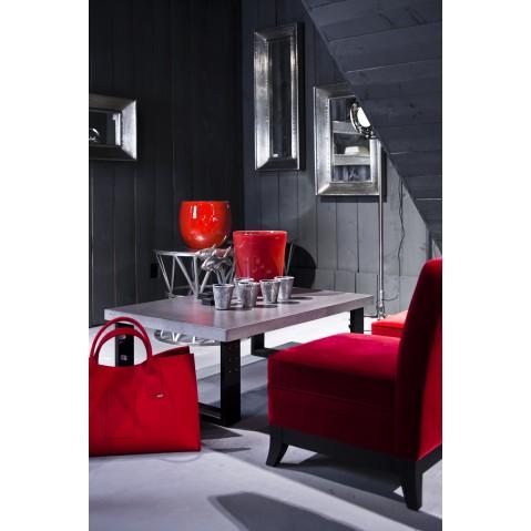 table basse en b ton blanc atelier. Black Bedroom Furniture Sets. Home Design Ideas
