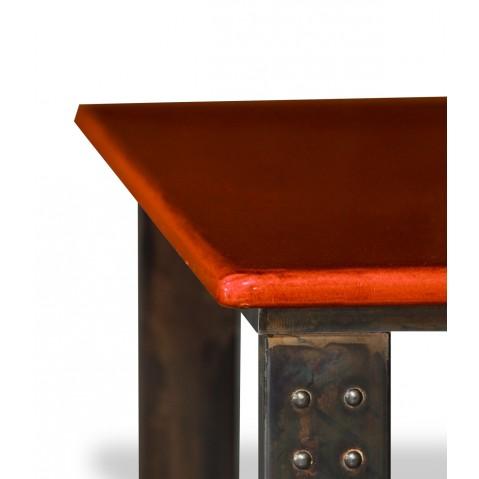 Table basse en pierre de lave corail atelier