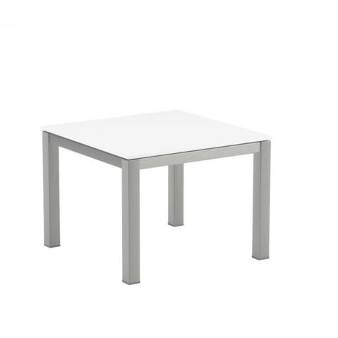 Table Basse en verre TABOELA  de Royal Botania, 50x50, blanc