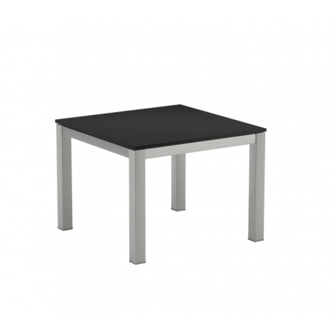 Table Basse en verre TABOELA de Royal Botania, 50x50, noir