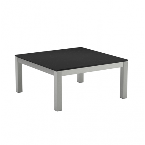 Table Basse en verre TABOELA de Royal Botania, 80x80 noir