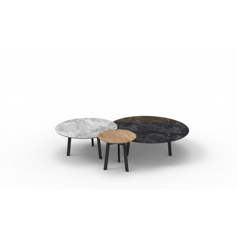 Basse Groove Marble De SheppardSmall Carrara Vincent Table k0OPnw