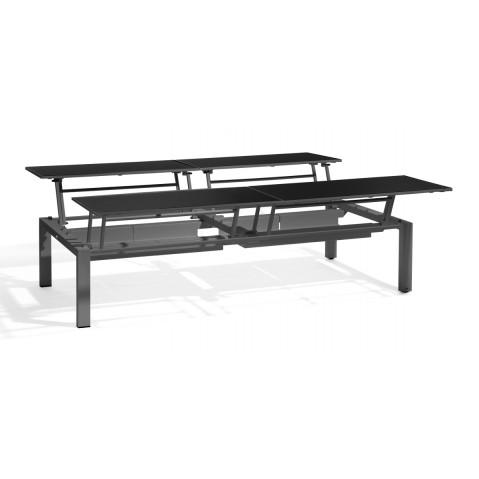 Table basse haute trento tip up de manutti 4 places for Table haute 6 places