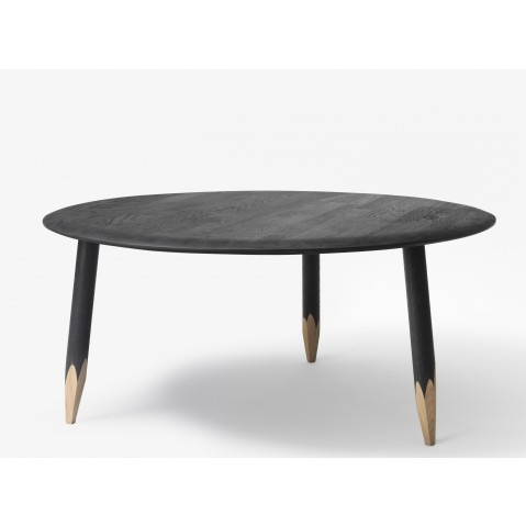 Table basse HOOF de &Tradition , Ø90cm, Black stained