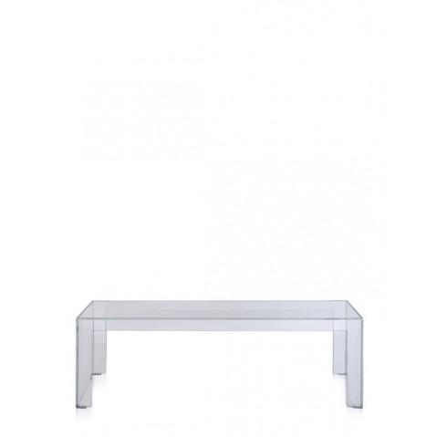 Table basse INVISIBLE de Kartell,  Cristal, L.120 X H.40 X P.40