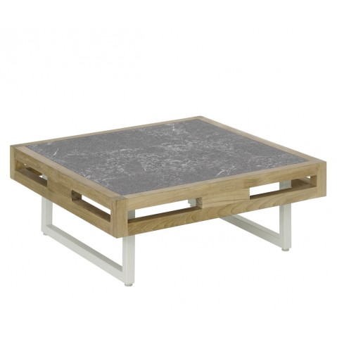 Table basse KONTIKI en pierre de lave de Emu