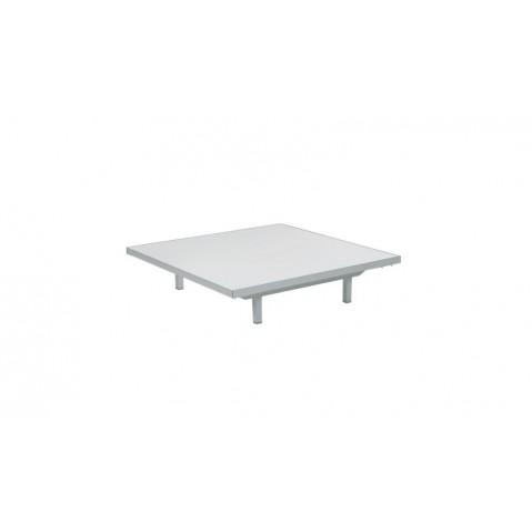 Table basse LAZY de Royal Botania, Blanc, 80x80x15