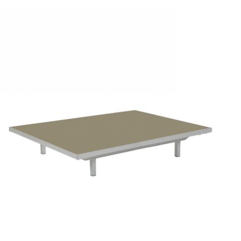 Table basse LAZY de Royal Botania, Capuccino, 80x100x15