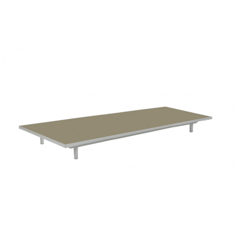 Table basse LAZY de Royal Botania, Capuccino, 80x160x15