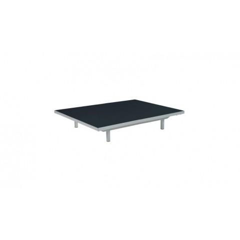 Table basse LAZY de Royal Botania, Noir, 80x100x15