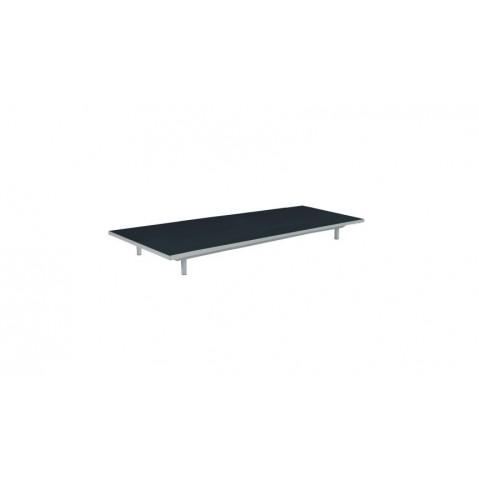 Table basse LAZY de Royal Botania, Noir, 80x160x15