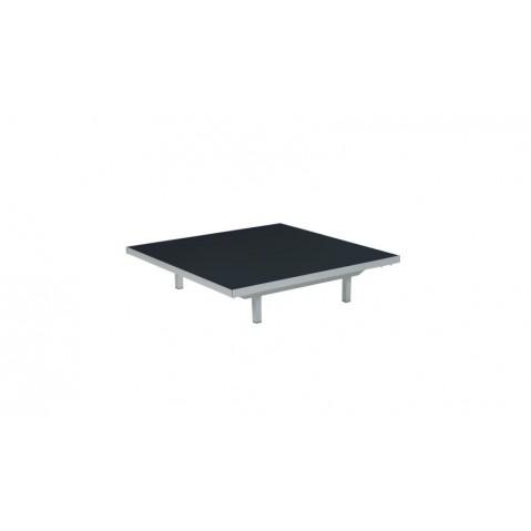 Table basse LAZY de Royal Botania, Noir, 80x80x15