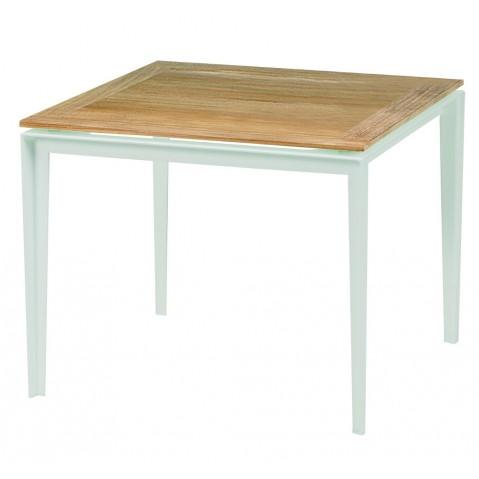 Table basse LITLLE-L de Royal Botania blanc et plateau teck