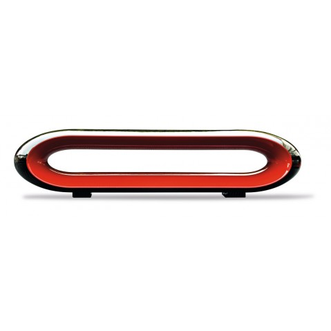 Table basse LOOP de Serralunga noir et rouge