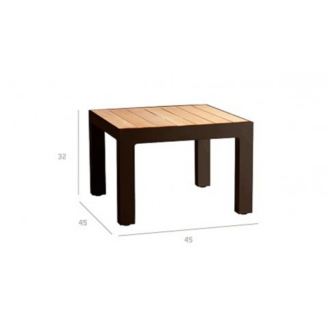 Table basse Picass de tribu, Rouille
