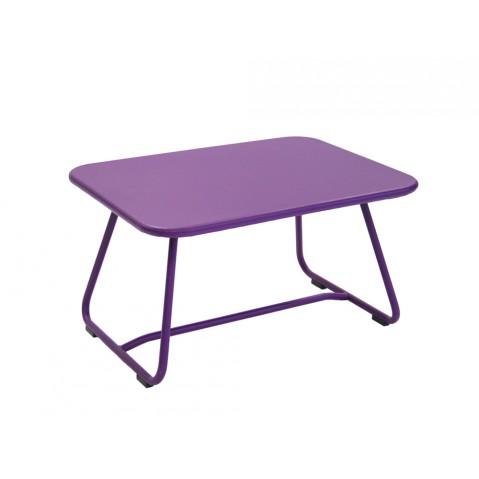 Table basse SIXTIES de Fermob aubergine