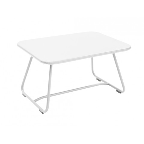 Table basse SIXTIES de Fermob blanc coton