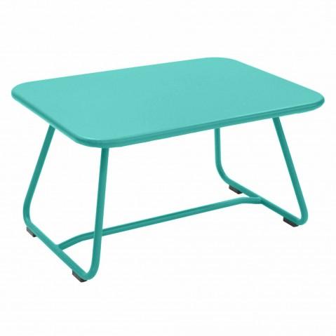Table basse SIXTIES de Fermob Bleu lagune