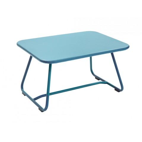 Table basse SIXTIES de Fermob bleu turquoise
