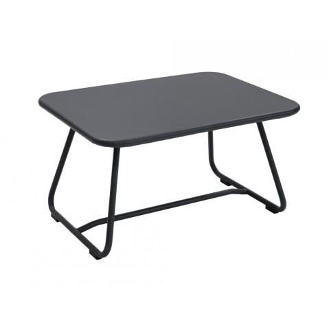 Table basse SIXTIES de Fermob noir réglisse
