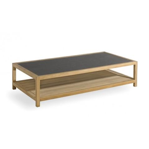 Table basse SORENTO de Manutti en petit granit noir