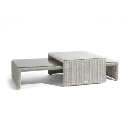 Table basse SWING de Manutti, Blanc, 25.5X135X61