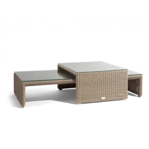 Table basse SWING de Manutti, Coquillage, 25.5X135X61