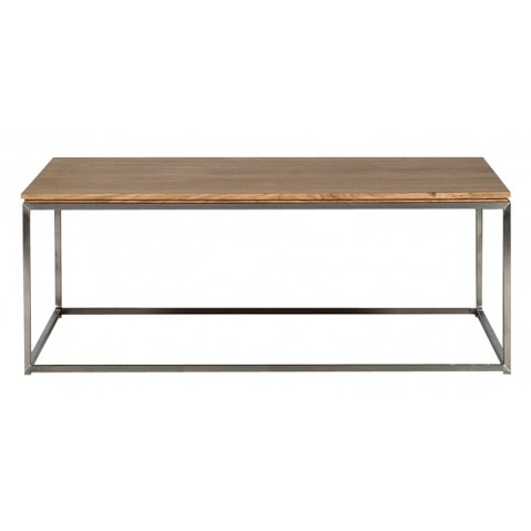 Ethnicraft table basse carr e thin en ch ne for Table carree en chene