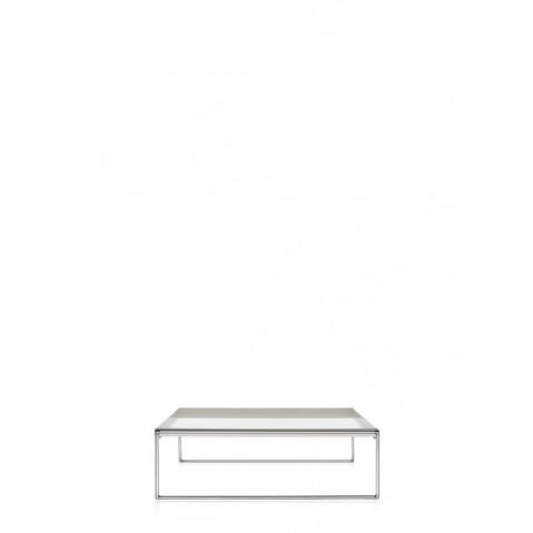 Table basse TRAYS de Kartell, Blanc, L.80 X H.25.3 X P.40