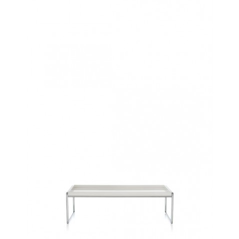 Table basse TRAYS de Kartell, Blanc, L.80 X H.25.3 X P.80