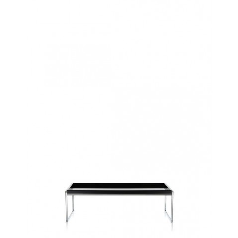 Table basse TRAYS de Kartell, Noir, L.80 X H.25.3 X P.80
