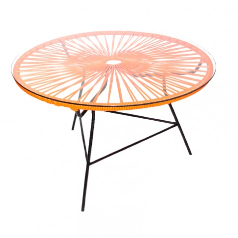 Table basse ZIPOLITE de Boqa avec structure noire, Orange