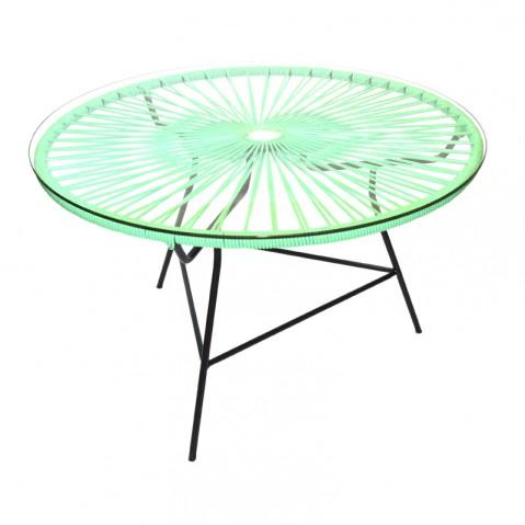 Table basse ZIPOLITE de Boqa avec structure noire, Vert turquoise