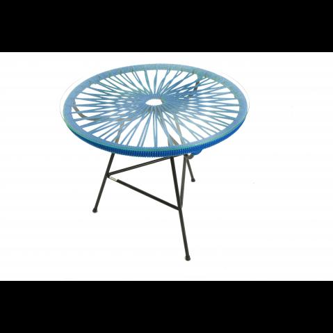 Table basse MINI ZIPOLITE de Boqa avec structure noire, Bleu nuit