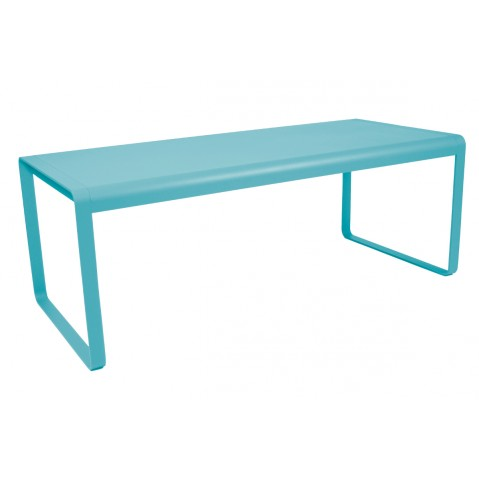 Table BELLEVIE de Fermob bleu turquoise