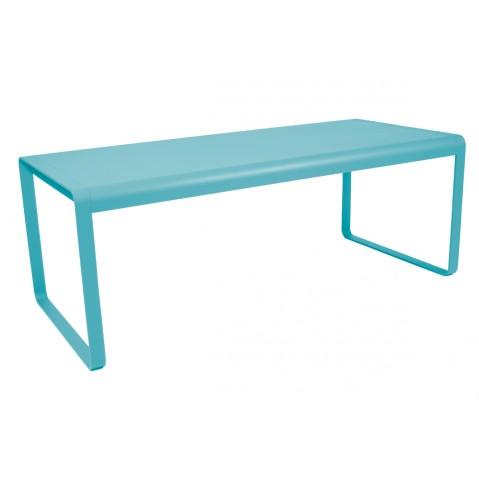 Table BELLEVIE de Fermob bleu turquoise