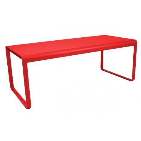 Table BELLEVIE de Fermob coquelicot