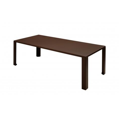 Table BIG IRONY OUTDOOR de Zeus, 200L73H90P, Rouille