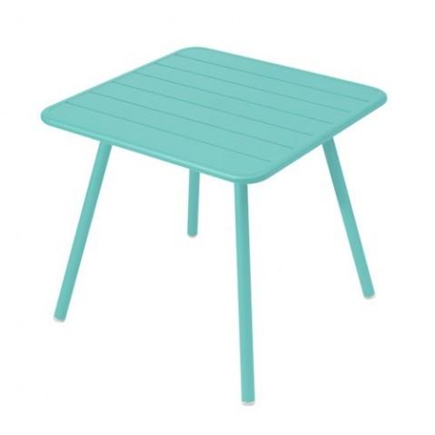 Table carrée 4 pieds LUXEMBOURG de Fermob Bleu lagune