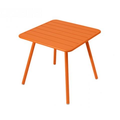 Table carrée 4 pieds LUXEMBOURG de Fermob, Carotte