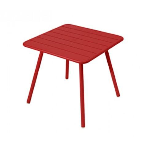 Table carrée 4 pieds LUXEMBOURG de Fermob, Coquelicot