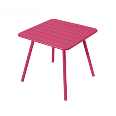 Table carrée 4 pieds LUXEMBOURG de Fermob, Fuchsia