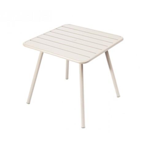 Table carrée 4 pieds LUXEMBOURG de Fermob, Lin