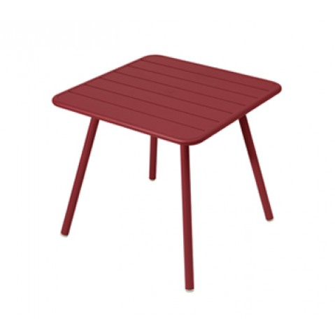 Table carrée 4 pieds LUXEMBOURG de Fermob, Piment