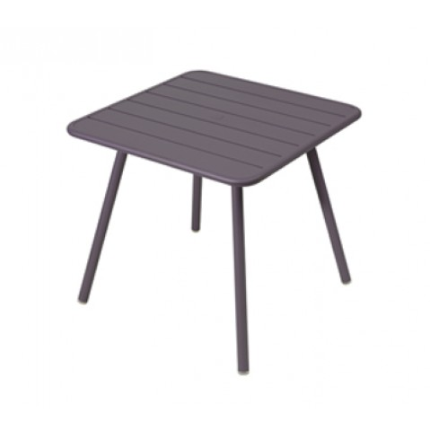 Table carrée 4 pieds LUXEMBOURG de Fermob, Prune