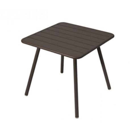 Table carrée 4 pieds LUXEMBOURG de Fermob, Rouille